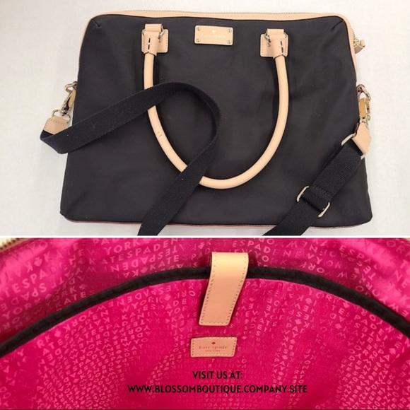 🌸 Kate Spade ♠️ Black bag w/ handles & Long strap